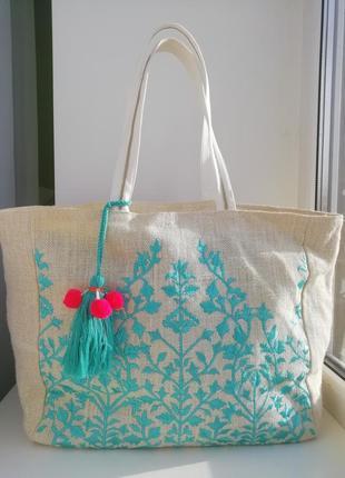 Велика стильна пляжна сумка шоппер!!!