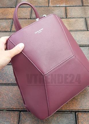 Бесплатная доставка #5709-2 bordo стильный каркасный женский рюкзак