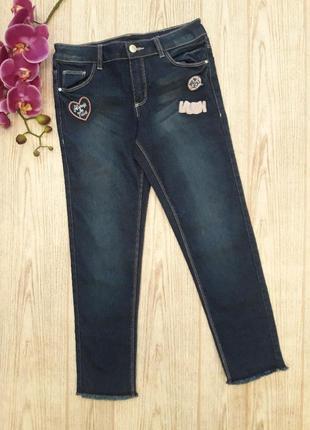 Стильные темно синие джинсы на девочку ovs италия
