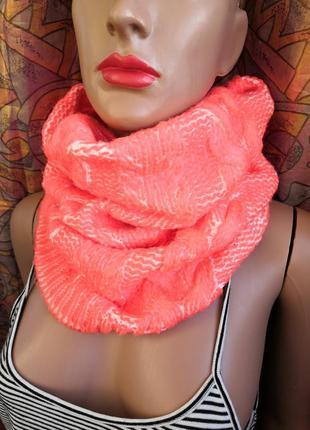 Вязаный шарф хомут promod