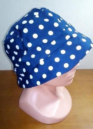 Капелюшок шляпка  в горошек