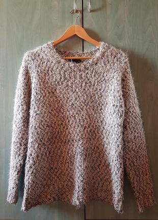 Вязаный шерстяной свитер/джемпер травка j&x