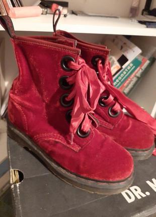 Dr.martens оригинал ботинки велюровые