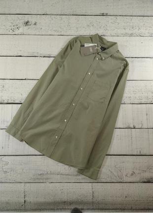 Рубашка светло - зеленая h&m