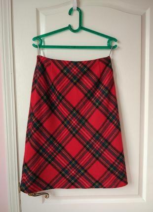 Тёплая флисовая юбка шотландка