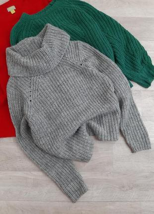 Серый свитер под горло  new look