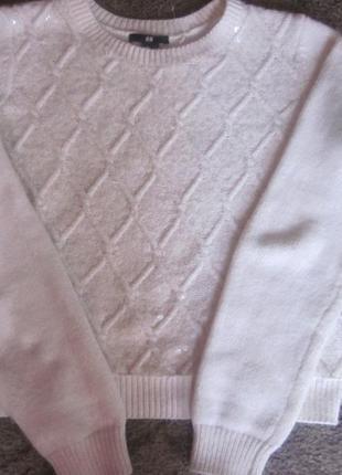 Фирменный свитер h&m xs