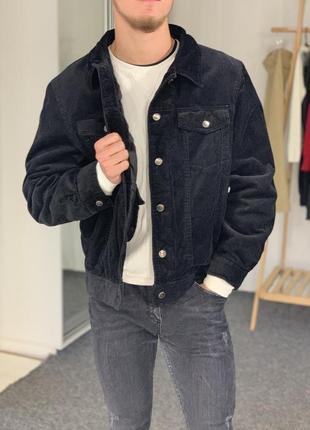 Куртка вельветовая черная осенняя watsons