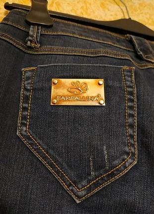 Стильные плотные джинсы с заниженной талией италия