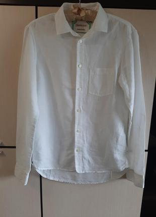 Брендовая льняная рубашка унисекс diesel