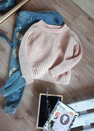 Красивенный свитер крупной вязки