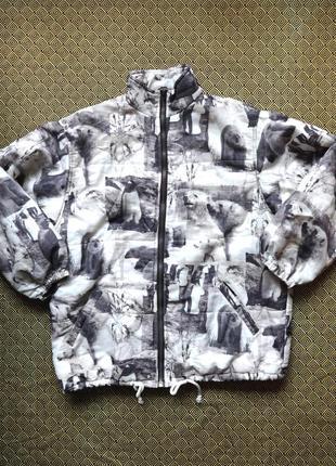 Sale -50% спортивная куртка, сноубордическая, лыжная, полярный принт