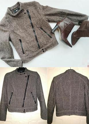 Куртка-пальто косуха, букле, h&m, 50% шерсть