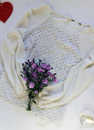 Блузка/кофточка женская/белая/шифоновая