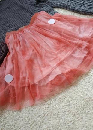 Юбка пачка в сетку, нежная юбочка, спідниця, юпка, юбка солнце
