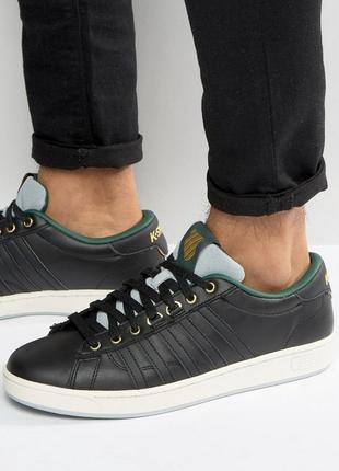Натуральные кожаные кроссовки кеды k-swiss
