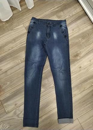 Крутые джинсы свободного фасона на высокую