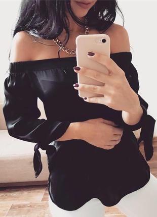 Блуза под шёлк на резинке с открытыми плечами