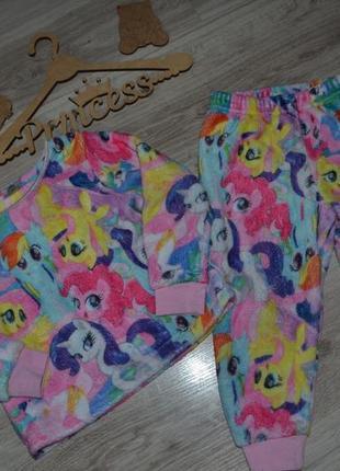 Пижама тёплая девочке my little pony 2-3г matalan