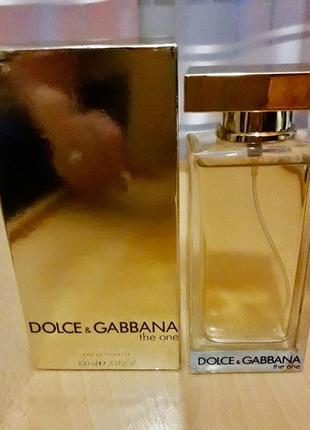 Итальянская туалетная вода dolce & gabbana the one 100мл, парфюм