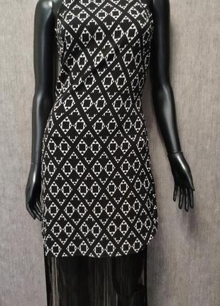 Красивое платье с бахрамой