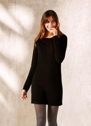 Черное вязаное платье, трикотаж м 40-42 esmara, германия