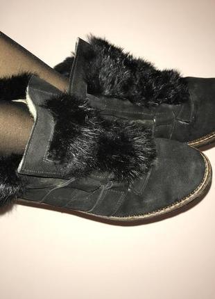 Шкіряні зимові черевички rieker