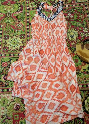 Платье длинное с декором