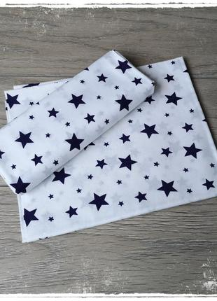 Пеленка ситец синие звезды