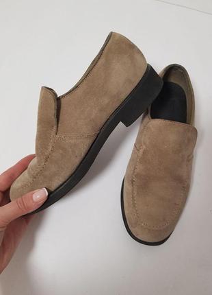 Кожаные, классические туфли/лоферы, кожа, 36 размер 23.5 см по стельке