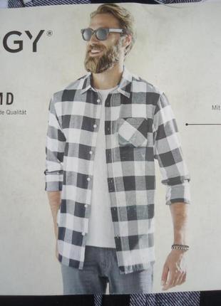 Мужская байковая рубашка клетка livergy германия, р. xl (43/44)