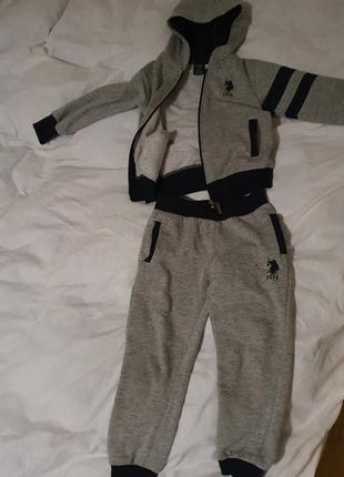 Спортивний костюм polo uspa з начесом теплий