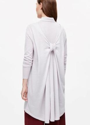 Платье туника удлиненный джемпер серый с  узлом новый cos
