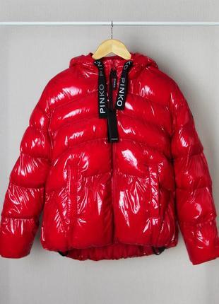 Новая куртка pinko akita gloss red