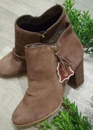 Ботинки полуботинки cable натуральный замш натуральная кожа устойчивый каблук