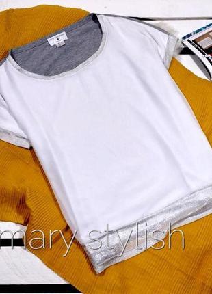 Двойная футболка шифон + вискоза, спинка серая
