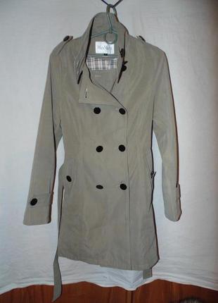 Плащ тренч пальто max mara оригинал новое на ощупь очень приятное