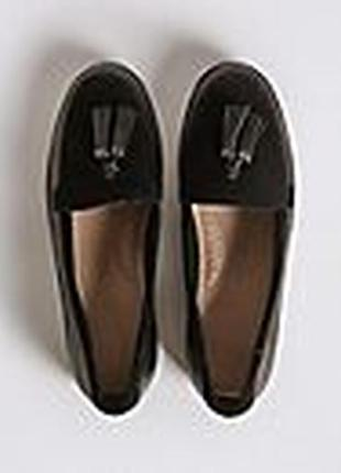 Туфлі,макасини кожа чорні