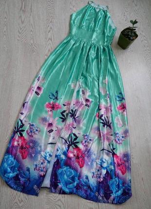 Сукня довга вечірня з розрізом спереду