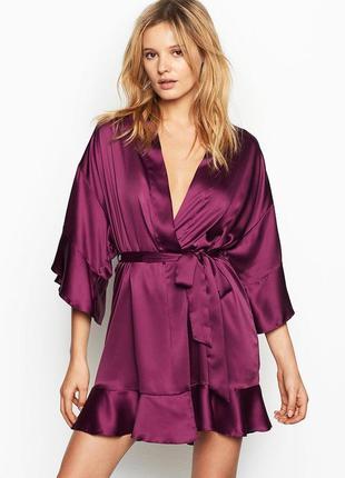 Сатиновый халатик кимоно халат victoria's secret