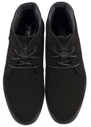 Ботинки замшевые утепленные слегка braska