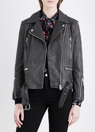 Косуха оверсайз из эко кожи, куртка, тредновая модная косуха