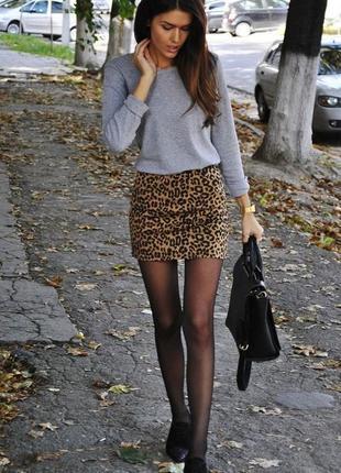 Тренд 2019 леопардовая юбка s