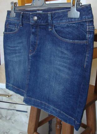 Юбка синяя джинсовая