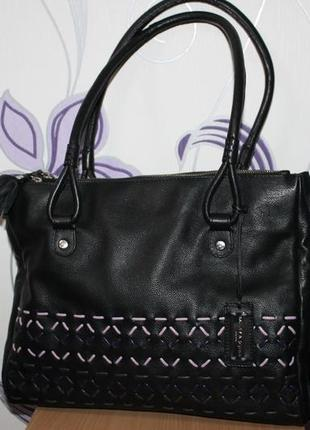 Красивая брендовая кожаная сумка bailey & quinn