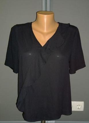 Топ блуза кофточка прямого кроя с оборкой atmosphere