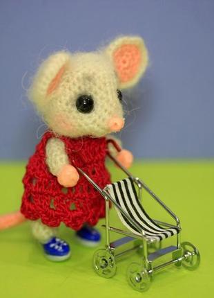Брелок для сумки мышка в платьице