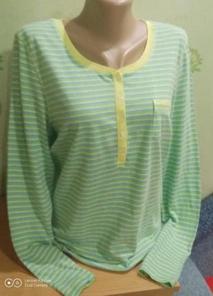 Нежный ,натуральный, лонгслив, рубашка домашняя-m-l,-up fashion
