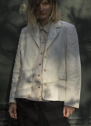 Mexx базовый бежевый хлопковый пиджак
