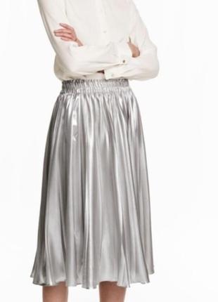 Модная новая плиссированная юбка миди h&m zara